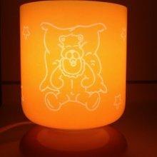 Lampe veilleuse enfant gravée personnalisée 'Tendre ourson'