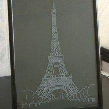 Tour Eiffel gravée