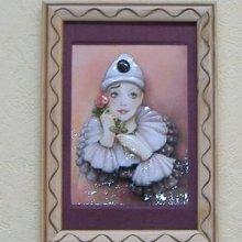 Pierrot mauve 3D