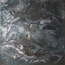 Peinture abstraite - Mer noire