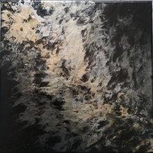 Peinture abstraite - D'or et d'argent