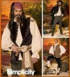 Patron costume pirate homme simplicity